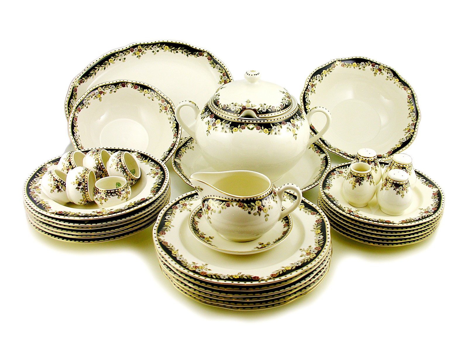 hungarian porcelain zsolnay sissi decor dinner set for 6 ebay
